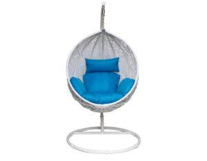 """Фото-Подвесное плетеное кресло """"Paradiso"""" KM-0031 big blue"""