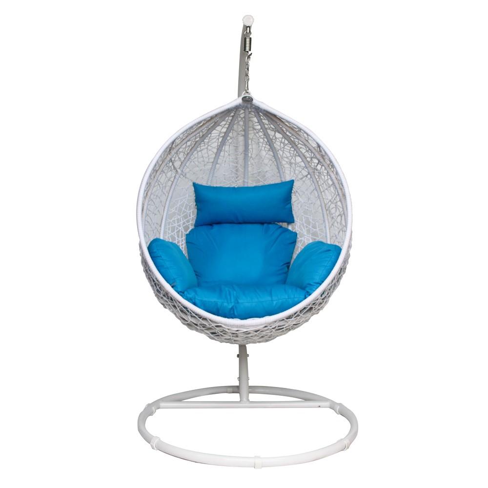"Фото-Подвесное плетеное кресло ""Paradiso"" KM-0031 medium blue"
