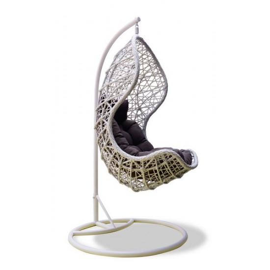 "Фото-Подвесное плетеное кресло ""Cand vanilla"""