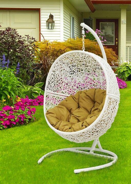 """Подвесное плетеное кресло """"Lunar White"""""""