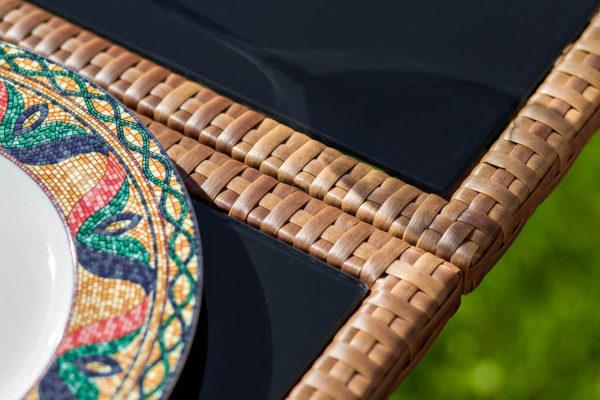 Mykonos раздвижной плетеный обеденный стол, артикул 24872