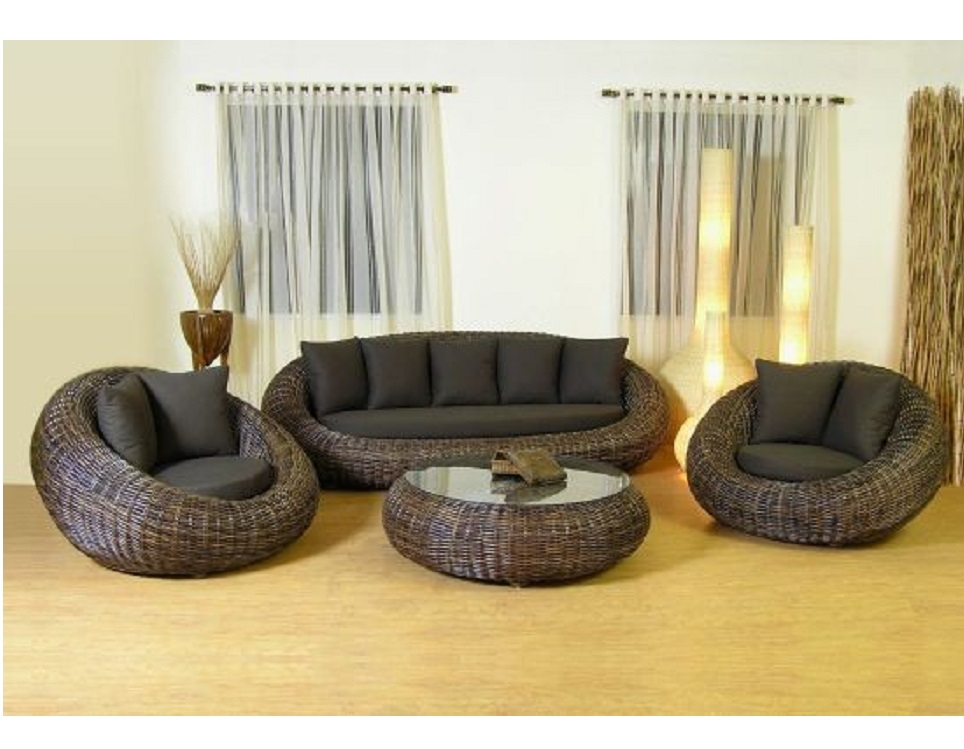 "Фото-Комплект плетеной мебели ""Kiwi"""
