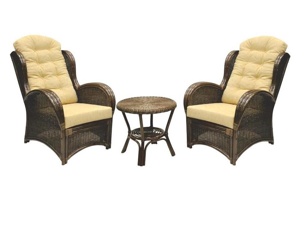 """Комплект плетеной мебели """"Wing brown-2"""" в магазине """"Дом Ротанга"""""""