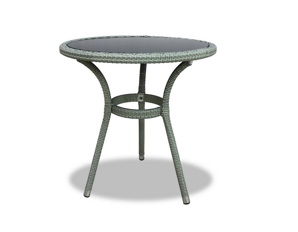 """Фото-Плетеный стол """"Lotus"""", цвет светло-серый"""