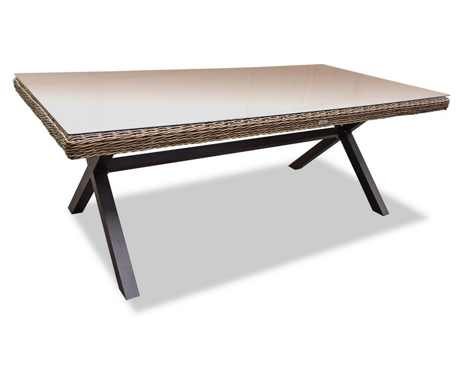 "Фото-Плетеный стол ""Opal"", 210 см"