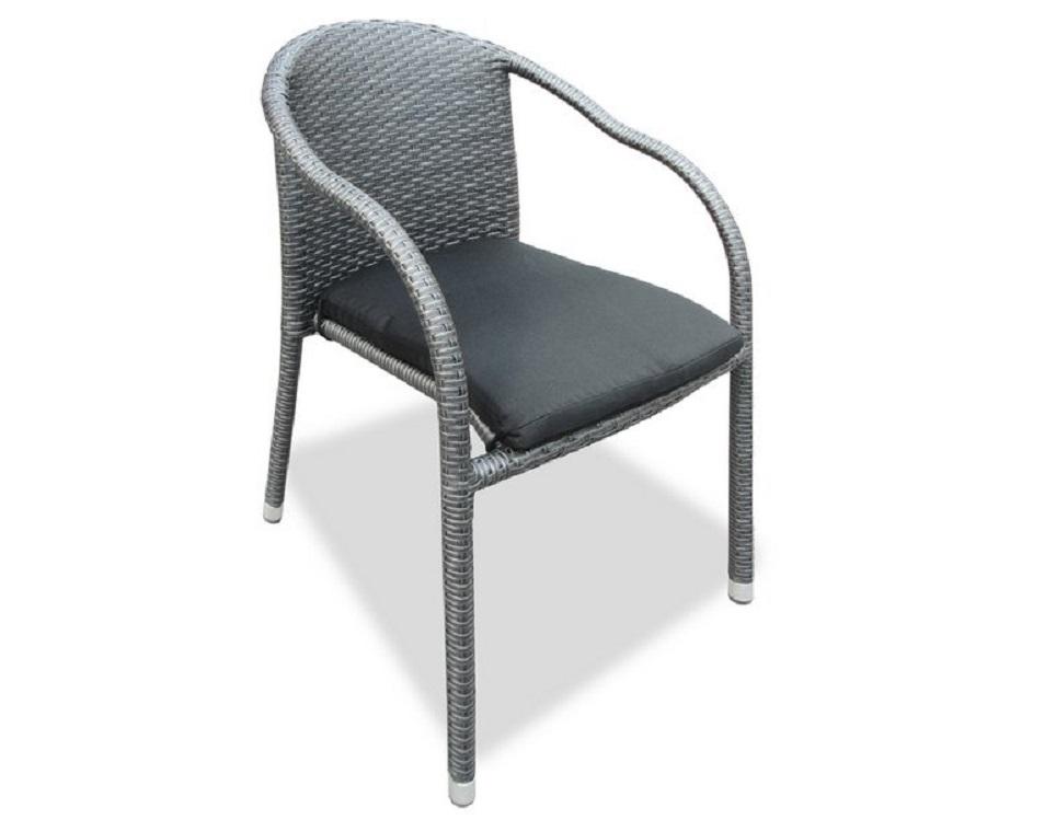 """Фото-Плетеный стул """"Lotus"""", цвет темно-серый"""