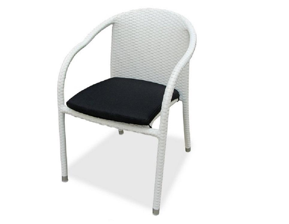"""Фото-Плетеный стул """"Lotus"""", цвет белый"""