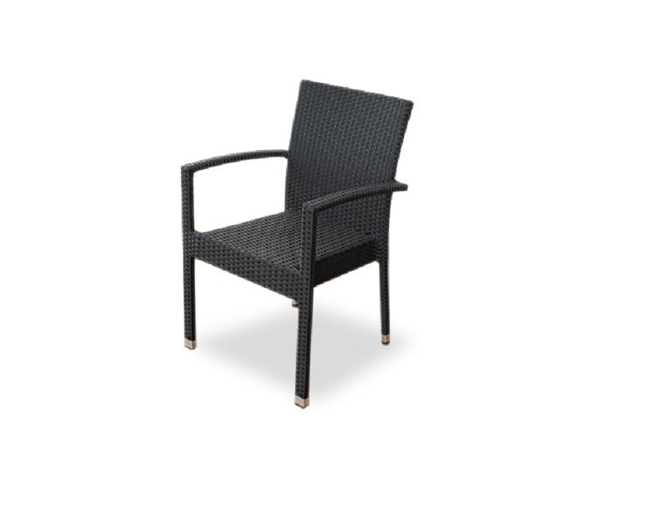 "Фото-Плетеный стул ""Milano black"""