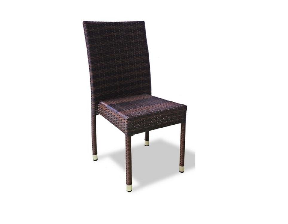 """Фото-Плетеный стул """"Milano brown"""" без подлокотников"""