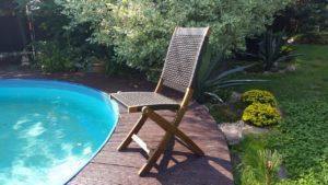 Обеденный стул Ever ton из акации и искусственного ротанга
