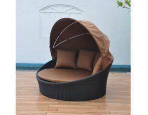 """Плетеный шезлонг-диван """"Globo"""", коричневый"""