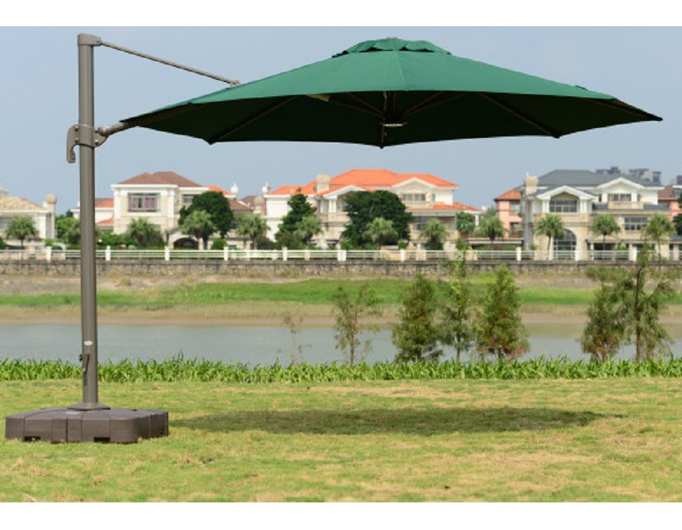 "Садовый зонт ""GardenWay А002-3000"", цвет зеленый"