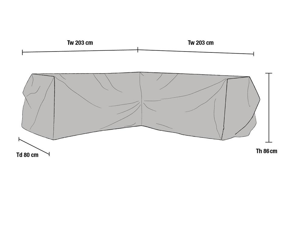 Чехол для углового дивана, 203x203/80x86 см