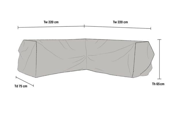 Чехол для углового дивана, 220/220x75x65 см