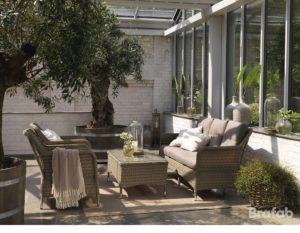 "Комплект плетеной мебели ""Colby beige sofa set"""