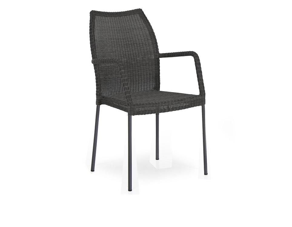 """Плетеное кресло """"Angelica"""", цвет черный"""