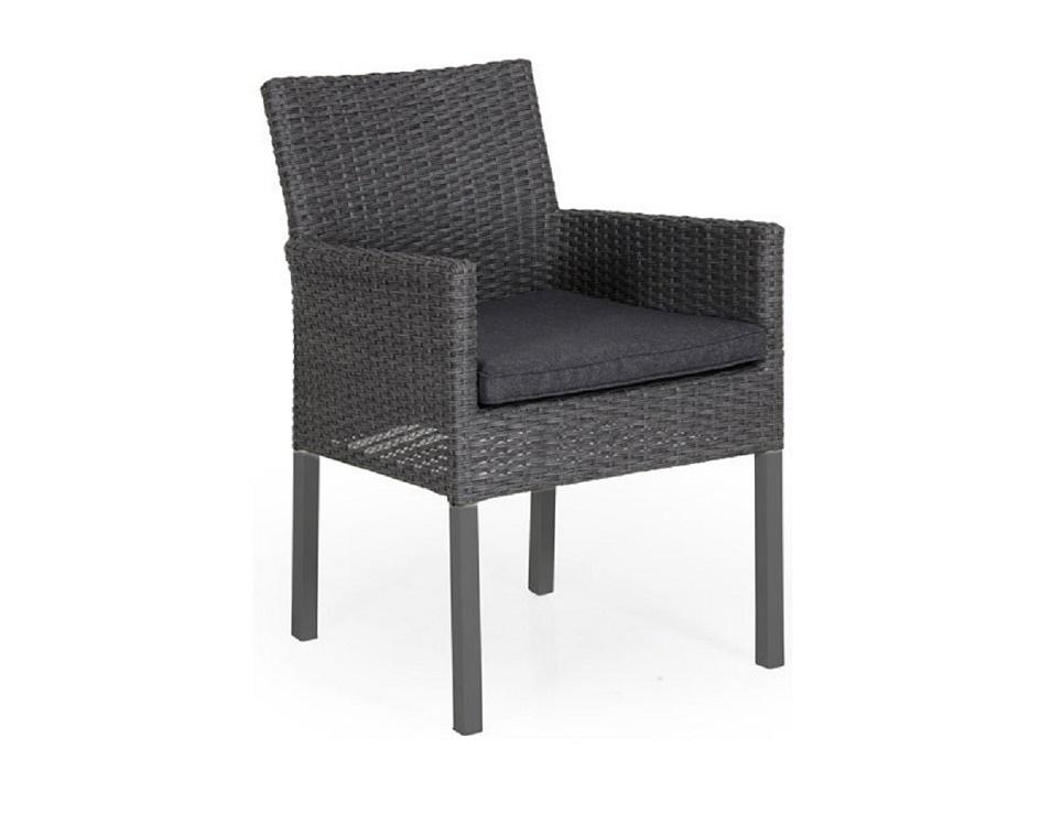 """Плетеное кресло """"Calais"""", цвет антрацит/серый"""