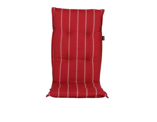 """Подушка на кресло """"Naxos"""", цвет красный в полоску."""