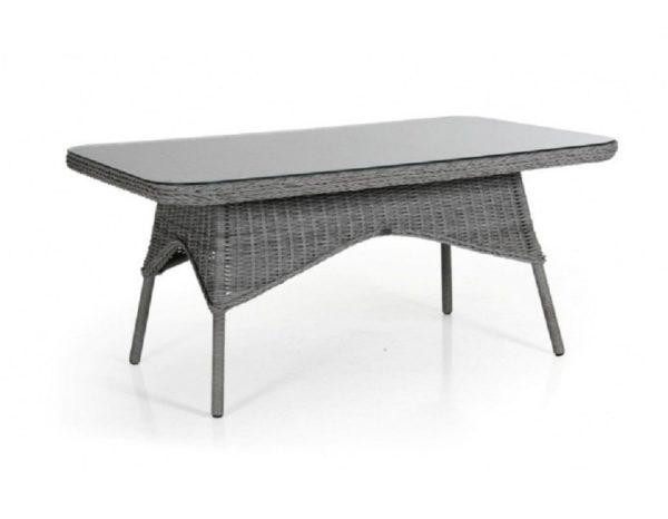 """Фото-Стол плетеный """"Evita grey"""" 150 см, цвет серый"""