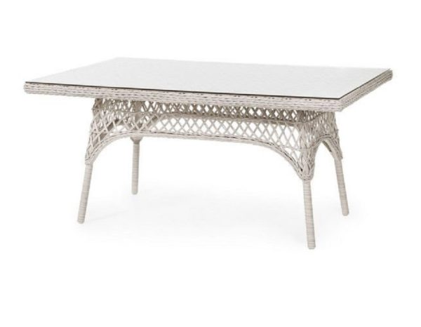 Плетеный стол «Beatrice white» 150 см