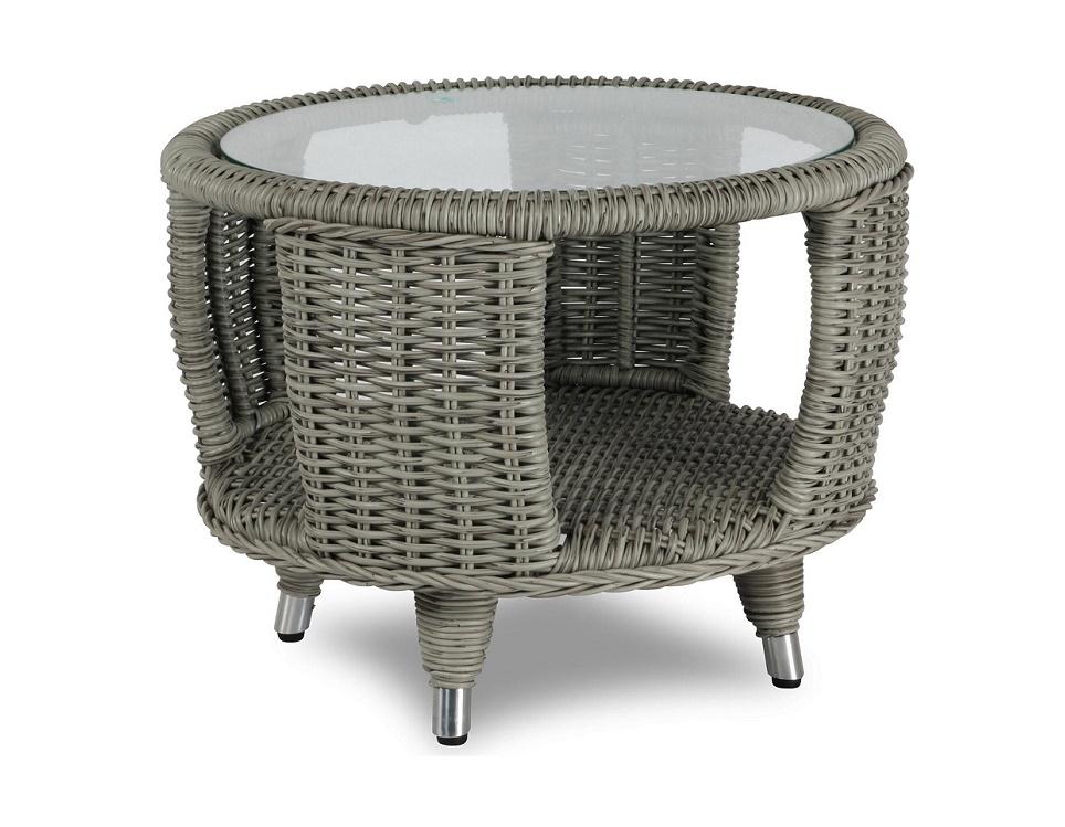 "Стол ""Evita grey"" диаметр 60 см, цвет серый"