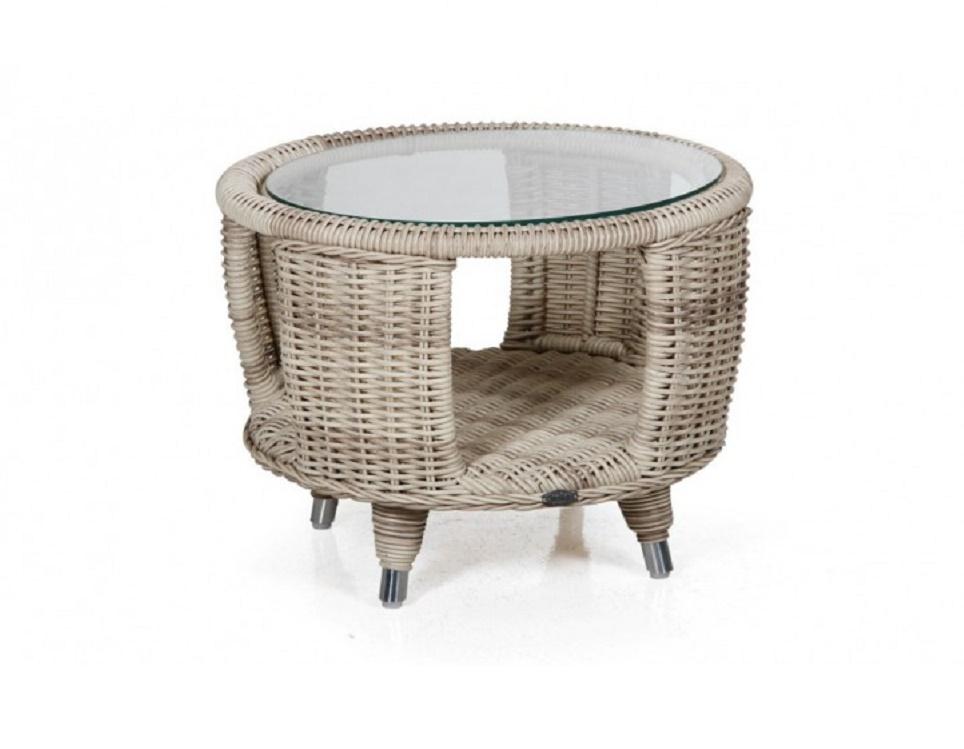 "Стол ""Evita beige"" диаметр 60 см, цвет бежевый"
