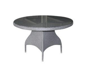Фото-Стол из ротанга круглый «Ninja grey» D 120 Brafab