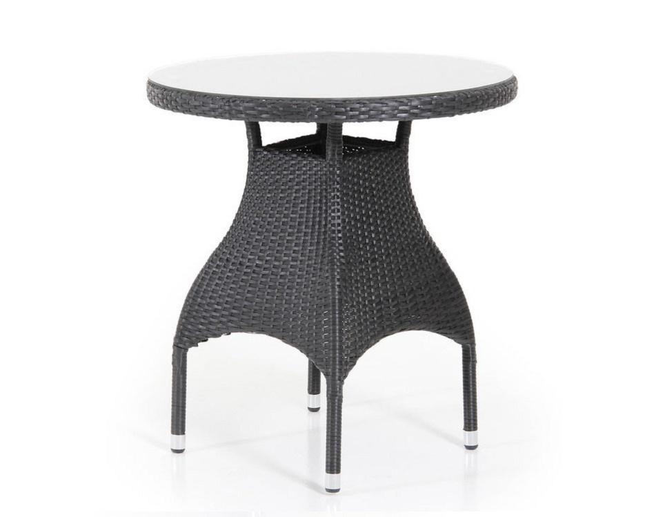 """Стол """"Ninja black"""" диаметр 70 см, цвет черный"""