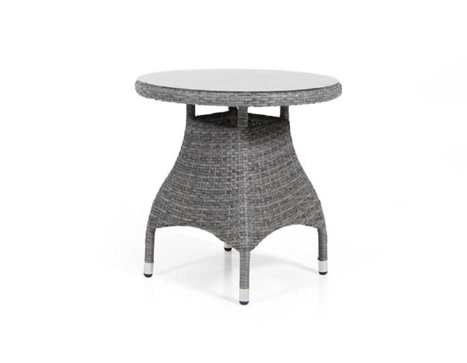 "Стол ""Ninja grey"" диаметр 70 см, цвет серый"