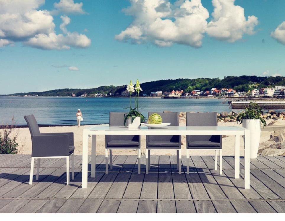 """Комплект мебели из алюминия """"Balma"""" . Производство: Швеция, Brafab."""
