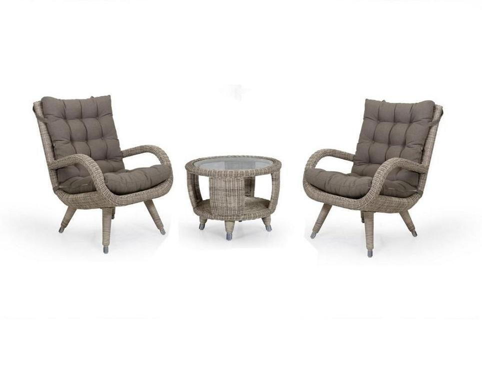"Комплект плетеной мебели ""Silva beige"""