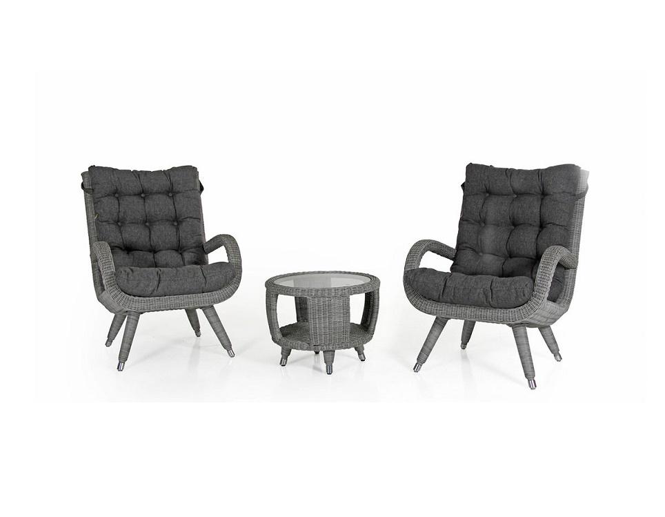 """Комплект плетеной мебели """"Silva grey"""""""