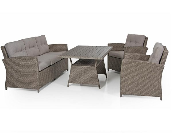 Фото-Комплект плетеной мебели Soho beige Brafab Швеция