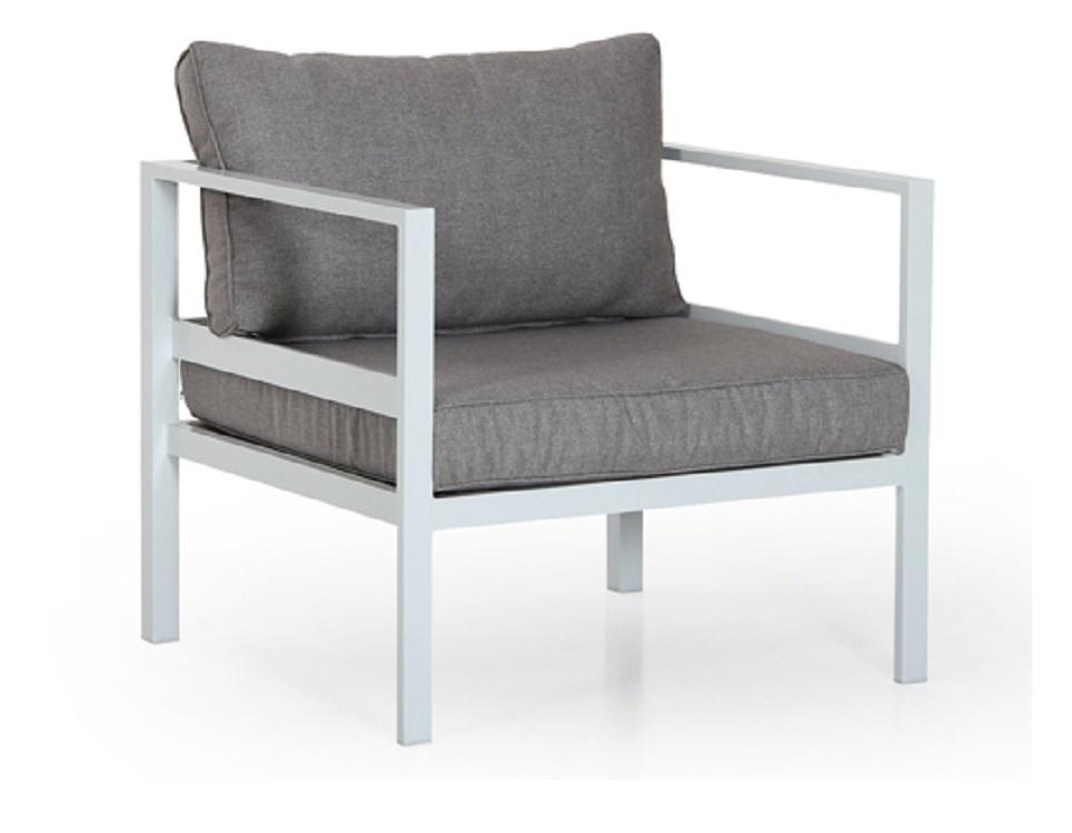 "Кресло ""Leone"", цвет белый/серый"