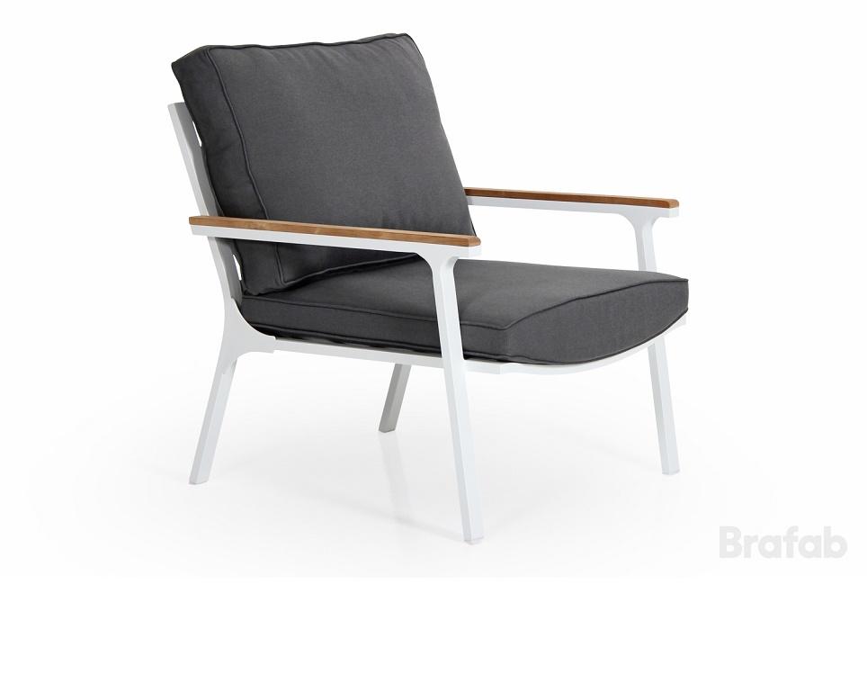 """Кресло """"Olivet"""". Размеры: 76х86 см, высота - 77 см. Цвет: белый/антрацит. Производство: Швеция, Brafab."""