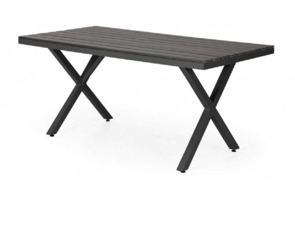 """Фото-Стол садовый алюминиевый """"Leone"""" 150 черный Brafab"""