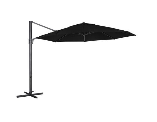 """Садовый зонт """"Fiesole"""", цвет антрацит/черный"""