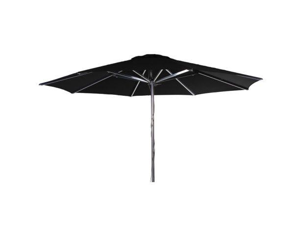 """Садовый зонт """"Empoli"""". Цвет: черный. Комплектация: купол, каркас. Размер купола: диаметр - 3, 5 м. Производство: Швеция, Brafab."""