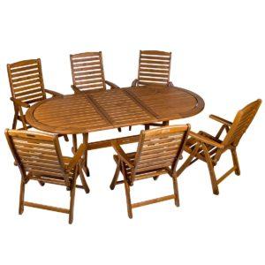 Садовая мебель из акации, стол Solberga и кресла Regina