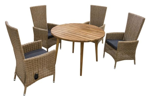 Плетеные кресла Capri и стол Polaris. Azzura, Голландия.