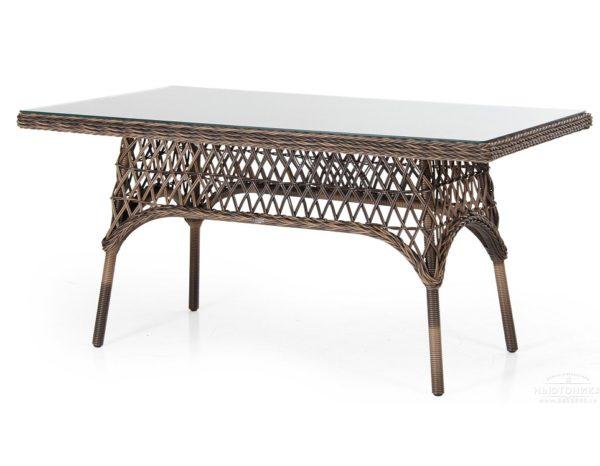 Фото-Плетеный стол «Beatrice brown» 150 см Brafab