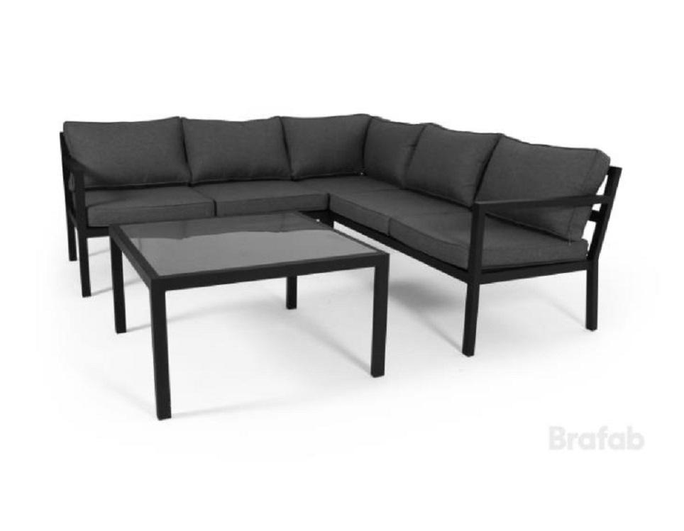"""Комплект мебели из алюминия """"Joliette"""", цвет черный/антрацит"""
