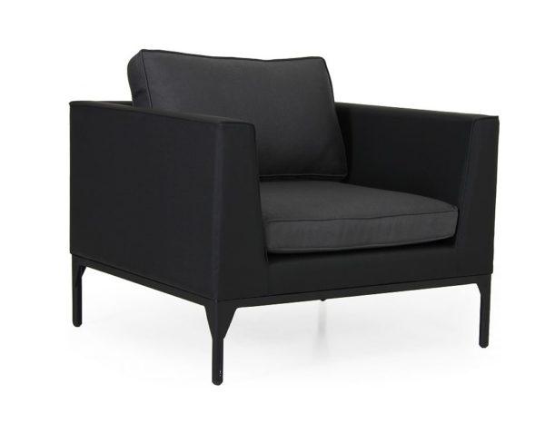 """Фото-Кресло садовое """"Bastia"""", цвет черный/антрацит Brafab"""