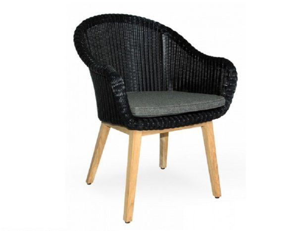 "Фото-Плетеное кресло ""Beverly"" black Brafab"