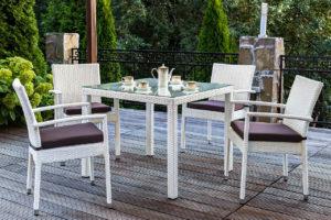 Плетеная мебель «Milano white», Joygarden