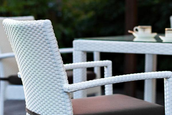 Плетеный стул MILANO белый
