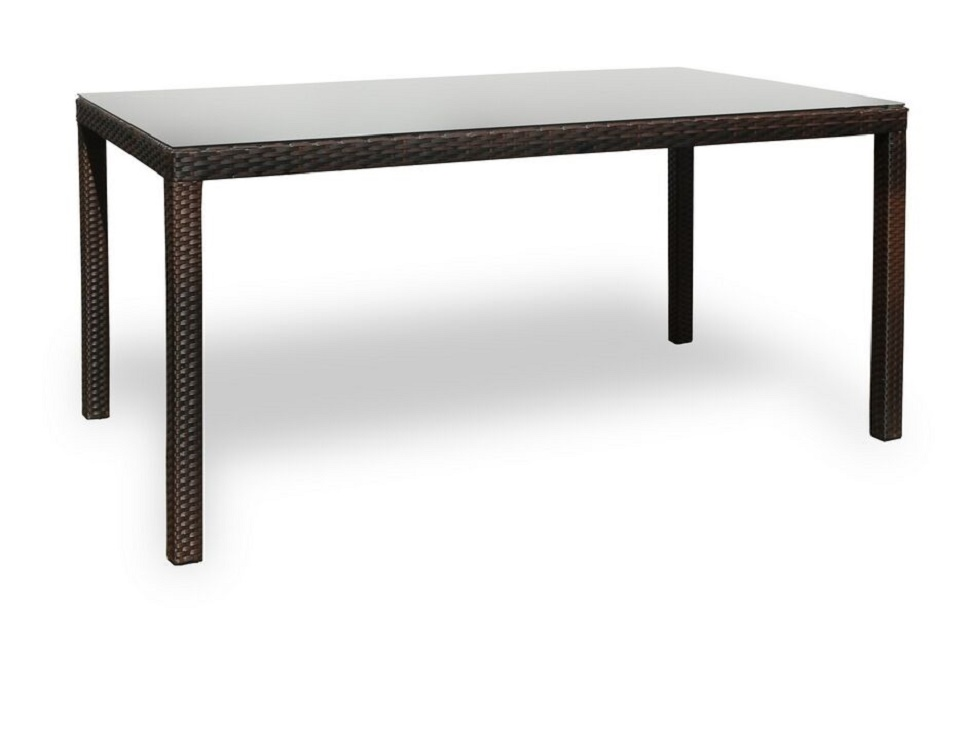 """Плетеный стол ""Milano brown"" 160×90 см-картинка"""