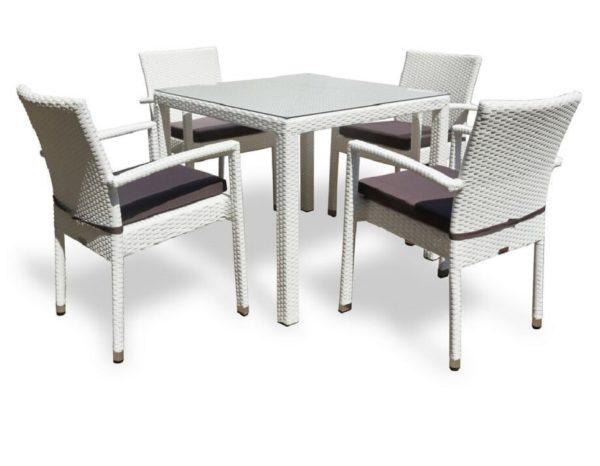 Обеденный стол из искусственного ротанга Milano