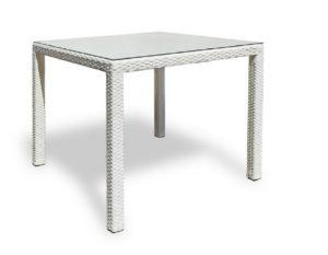 """Плетеный стол ""Milano white""-картинка"""