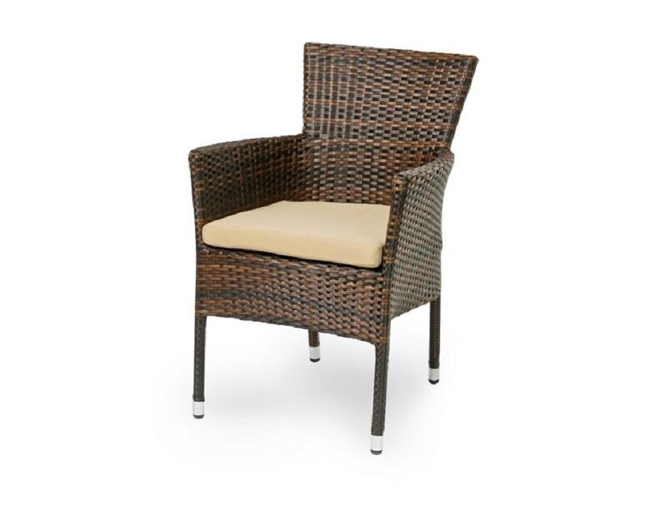 """Плетеное кресло ""Aroma dark brown"", обеденное -картинка"""